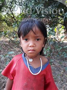 Choose a child to sponsor, like this little girl from Soutr Nikom, Sokna age 4