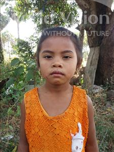 Choose a child to sponsor, like this little girl from Soutr Nikom, Reaksa age 6