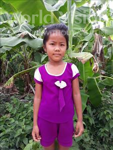 Choose a child to sponsor, like this little girl from Soutr Nikom, Navann age 5