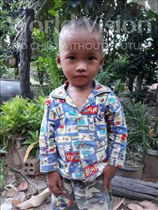 Mesa, aged 3, from Cambodia, is hoping for a World Vision sponsor