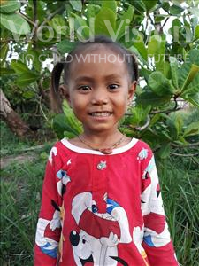 Choose a child to sponsor, like this little girl from Soutr Nikom, Sreymum age 4