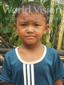 Phearin, aged 5, from Cambodia, is hoping for a World Vision sponsor