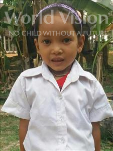 Choose a child to sponsor, like this little girl from Soutr Nikom, Sophanny age 4