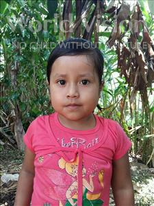 Choose a child to sponsor, like this little girl from Maya, Deyli Sulesmy age 5