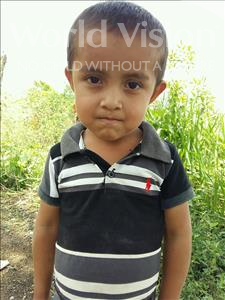 Choose a child to sponsor, like this little boy from Maya, Bernardo Andony age 4