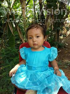 Choose a child to sponsor, like this little girl from Maya, Diana Milizeth age 1