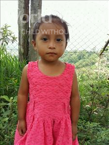 Choose a child to sponsor, like this little girl from Maya, Rosmeri Abigail age 3