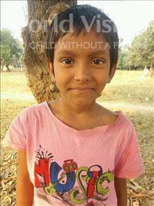 Choose a child to sponsor, like this little girl from Bhojpur, Kritika age 8