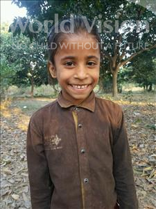 Choose a child to sponsor, like this little girl from Bhojpur, Priya age 7