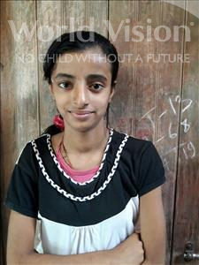 Choose a child to sponsor, like this little girl from Patna, Aparshi age 13