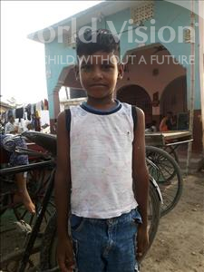 Choose a child to sponsor, like this little boy from Patna, Kunal age 7