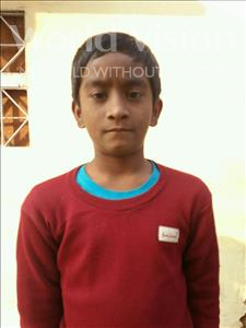 Priyanshu, aged 10, from India, is hoping for a World Vision sponsor