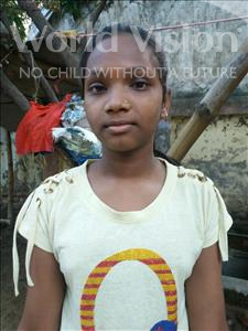 Choose a child to sponsor, like this little girl from Patna, Muskan age 11