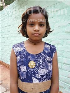 Choose a child to sponsor, like this little girl from Patna, Gita age 7