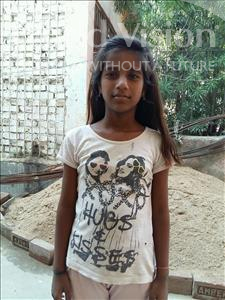 Choose a child to sponsor, like this little girl from Patna, Ishika age 11