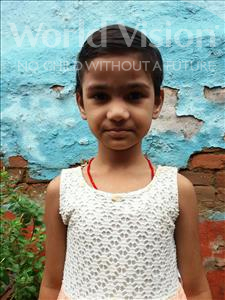 Khushi Kumari, aged 4, from India, is hoping for a World Vision sponsor