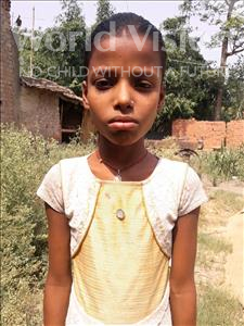 Choose a child to sponsor, like this little girl from Vaishali, Kavita age 10