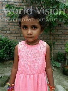 Choose a child to sponsor, like this little girl from Vaishali, Ayushi age 4