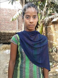 Choose a child to sponsor, like this little girl from Vaishali, Suman age 11