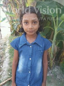 Choose a child to sponsor, like this little girl from Vaishali, Sakshi age 7