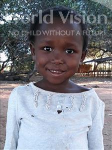 Choose a child to sponsor, like this little girl from Kazuzo, Elsa Daniel age 6