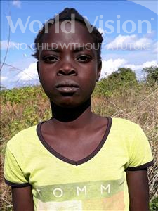 Choose a child to sponsor, like this little girl from Kazuzo, Telma Djapri age 11