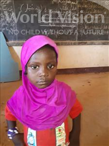 Choose a child to sponsor, like this little girl from Sirba, Haoussata age 2