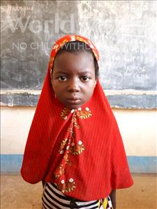 Choose a child to sponsor, like this little girl from Komabangou, Nadia age 6