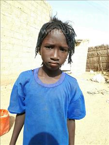 Choose a child to sponsor, like this little girl from Mbella, Dib age 8