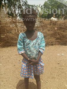 Choose a child to sponsor, like this little girl from Mbella, Khady age 5