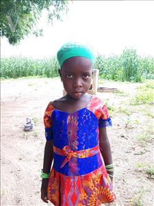 Choose a child to sponsor, like this little girl from Mbella, Fatou age 6