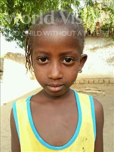 Choose a child to sponsor, like this little girl from Mbella, Coura age 5