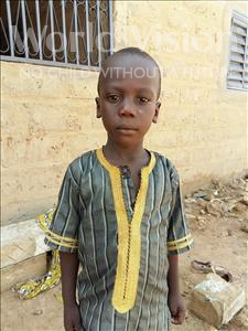 Choose a child to sponsor, like this little boy from Mbella, Pape age 6