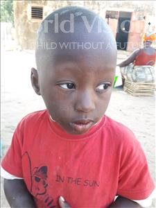 Choose a child to sponsor, like this little boy from Mbella, Ablaye age 4