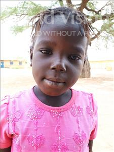 Choose a child to sponsor, like this little girl from Mbella, Diarra age 4
