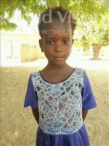 Choose a child to sponsor, like this little girl from Mbella, Sy age 4