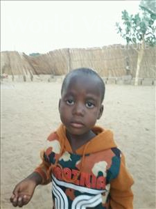 Moustapha, aged 4, from Senegal, is hoping for a World Vision sponsor