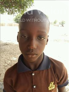 Choose a child to sponsor, like this little boy from Loul, Alphonse age 9