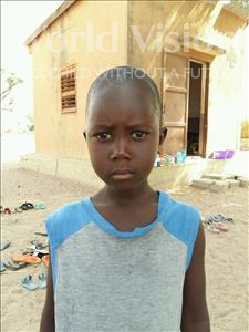 Choose a child to sponsor, like this little boy from Loul, Ibrahima Daly age 6