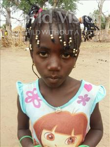 Choose a child to sponsor, like this little girl from Loul, Tening age 6