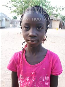 Choose a child to sponsor, like this little girl from Loul, Angelique Djike age 9