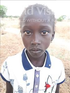 Choose a child to sponsor, like this little girl from Loul, Helene Ndianie age 11