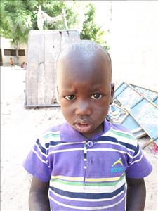 Choose a child to sponsor, like this little boy from Loul, Bassirou age 3
