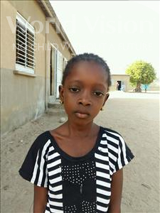 Choose a child to sponsor, like this little girl from Loul, Marguerite Khemesse age 7