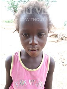 Saly, aged 5, from Senegal, is hoping for a World Vision sponsor