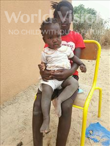 Choose a child to sponsor, like this little girl from Loul, Aicha Ndeye Mbade age 1