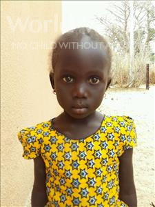 Cecile Clarinet, aged 4, from Senegal, is hoping for a World Vision sponsor