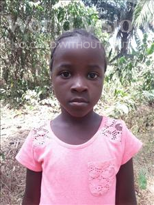 Choose a child to sponsor, like this little girl from Imperi, Jaminatu age 7