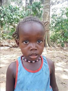 Choose a child to sponsor, like this little girl from Imperi, Musu age 3