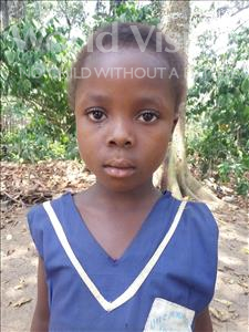 Choose a child to sponsor, like this little girl from Imperi, Isata age 7